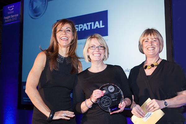 Spatial Global's Rachel Morley receives the 2013 BIFA award