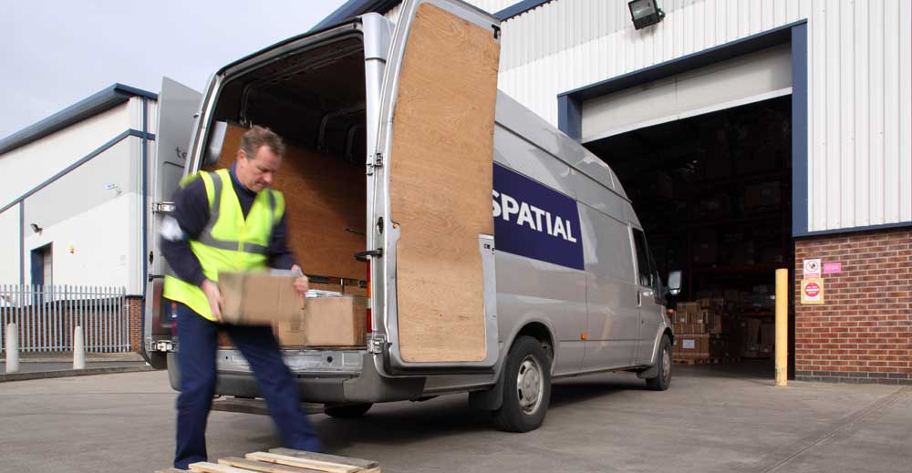 Spatial Global's door-to-door courier service is available for UK and international deliveries