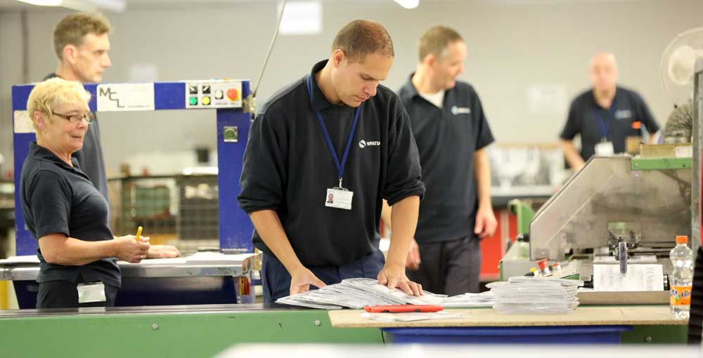 Mechanised fulfilment services for publishers include folding, inserting and polywrapping